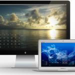 お気に入りの壁紙に「Desktop Calendar Plus」でカレンダーを重ねて表示しよう!