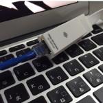 MacBook Airで使えるLAN→USB変換アダプタ『PLANEX UE-100TX-G3』