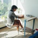 クギやネジを使わずに古材や廃材をテーブルへ再生できる『THE FLOYD LEG』